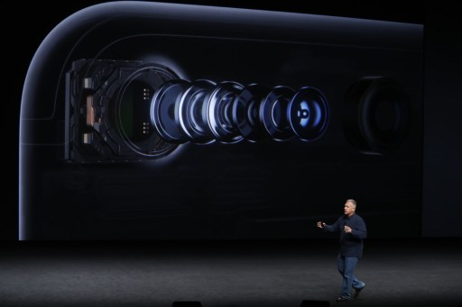 SAN FRANCISCO, CA - SEPTEMBER 07: Apple Senior Vice President of Worldwide Marketing Phil Schiller speaks on the new Apple iPhone 7 during a launch event on September 7, 2016 in San Francisco, California. Apple Inc. is expected to unveil latest iterations of its smart phone, forecasted to be the iPhone 7. The tech giant is also rumored to be planning to announce an update to its Apple Watch wearable device. Stephen Lam/Getty Images/AFP